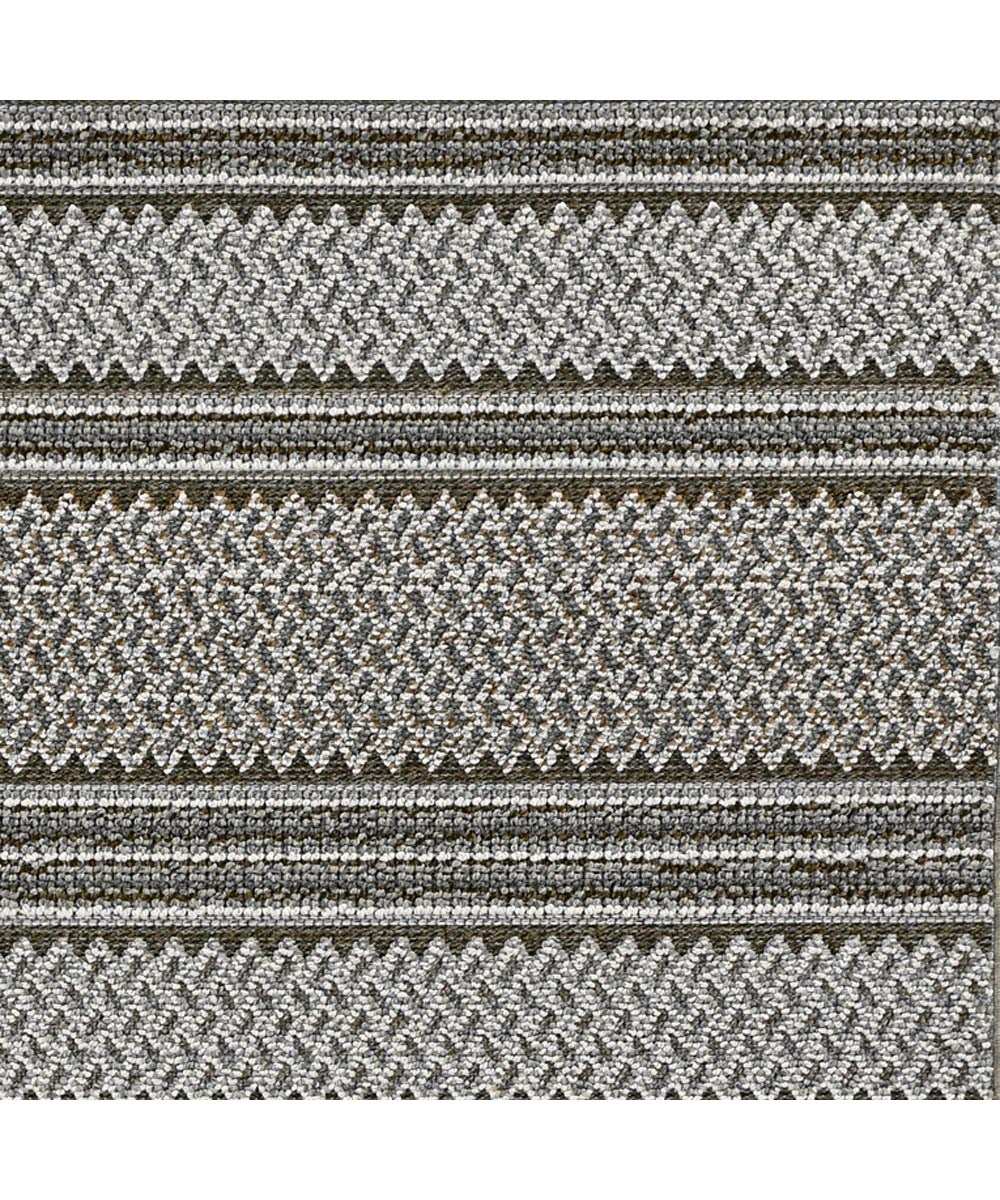 KAS 2 ft. 7 in. x 7 ft. 9 in. Terrace Grey Horizon Runner Rug