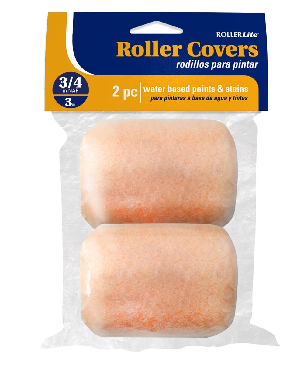 RollerLite  3 in. x 3/4 in. All Purpose Trim Standard Paint Roller Covers, 2 Pack