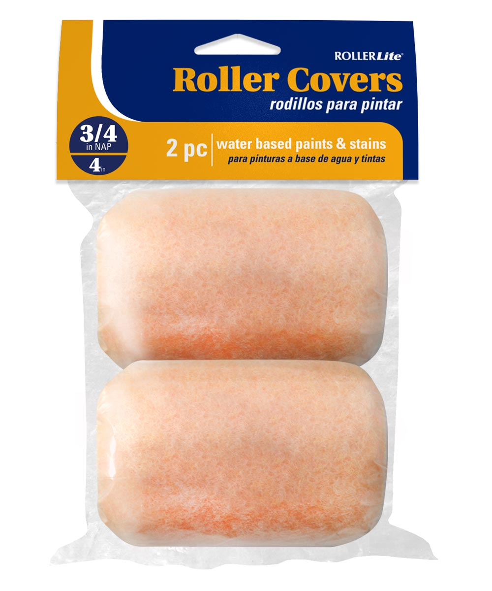 RollerLite 4 in. x 3/4 in. All Purpose Standard Trim Roller Covers, 2 Count