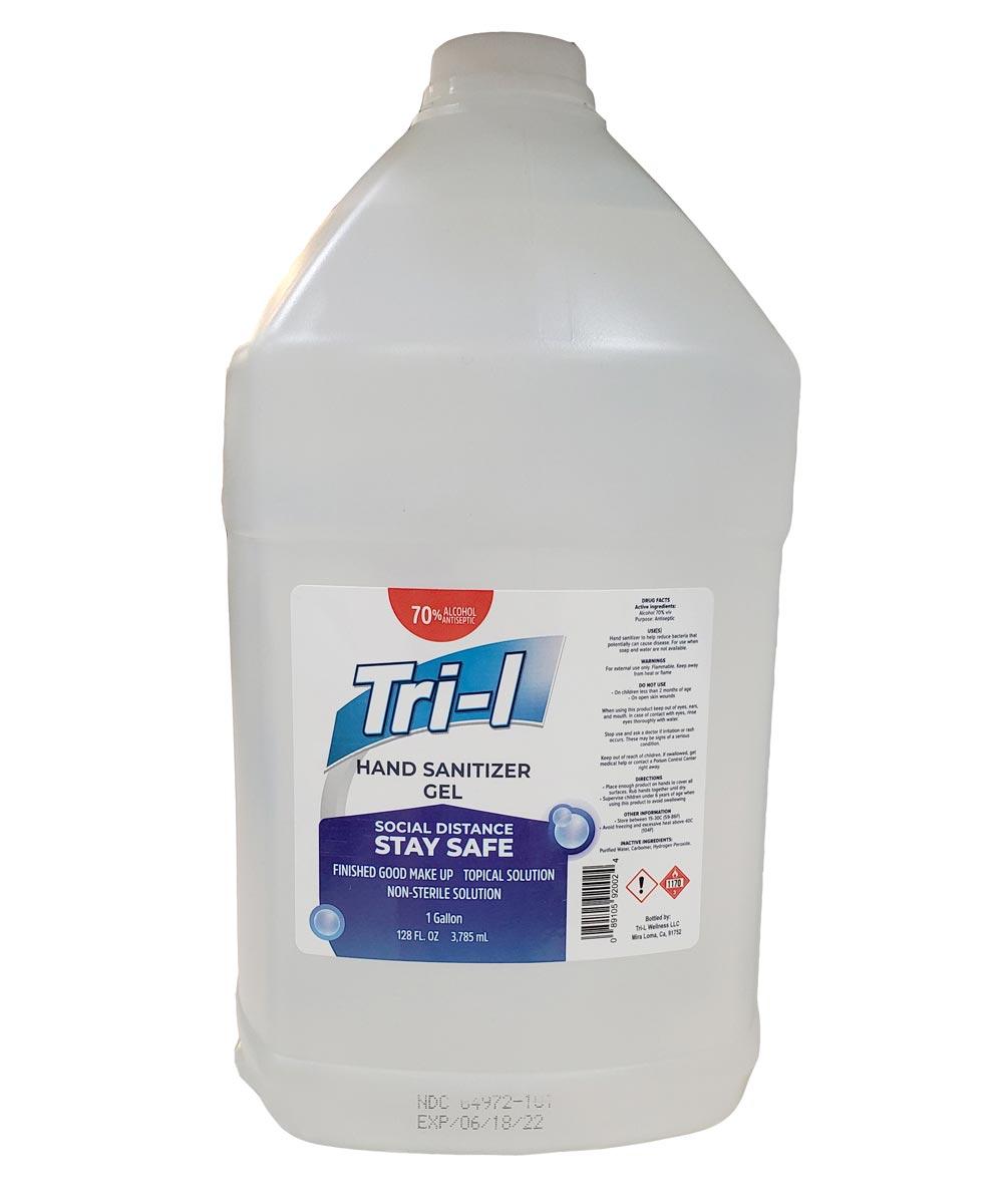 Tri-L 70% Alcohol Gel Hand Sanitizer, 1 Gallon