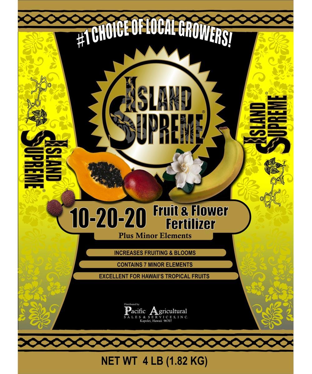 Island Supreme 4 lb. Fruit & Flower Fertilizer, 10-20-20