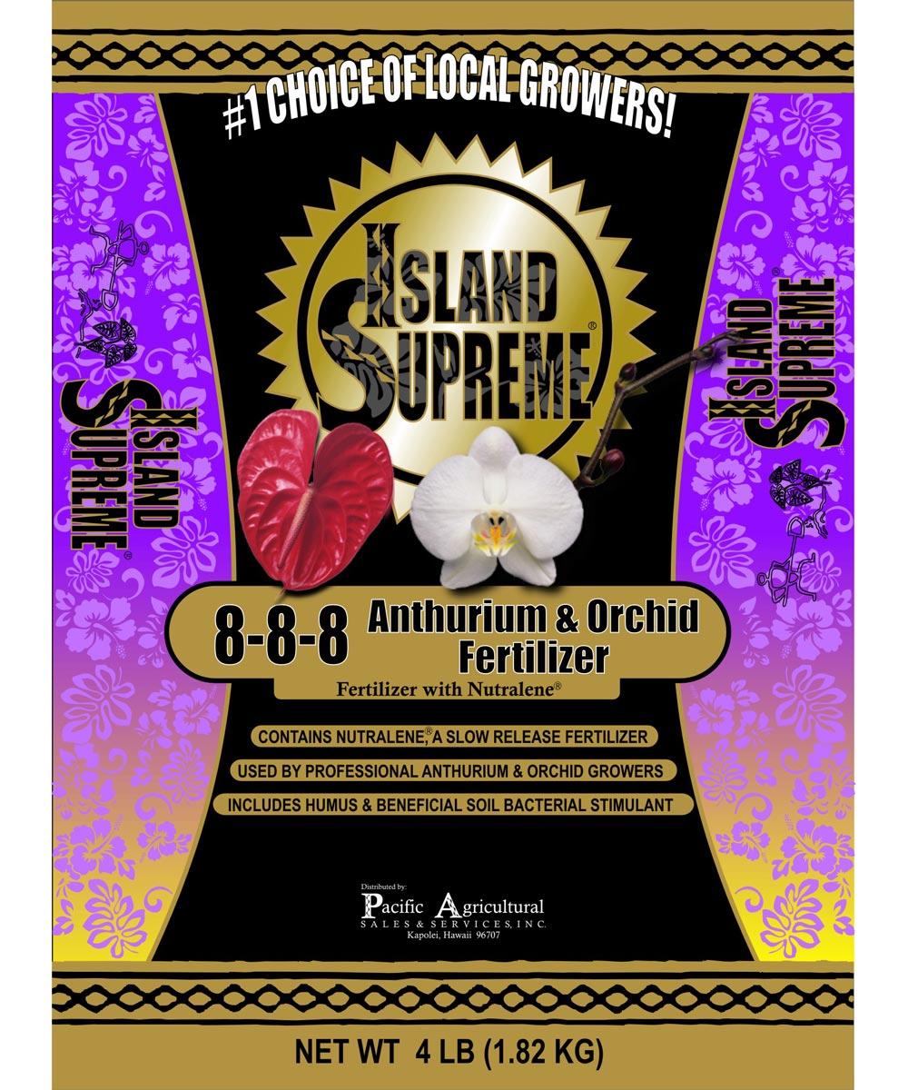 Island Supreme 4 lb. Anthurium & Orchid Fertilizer, 8-8-8