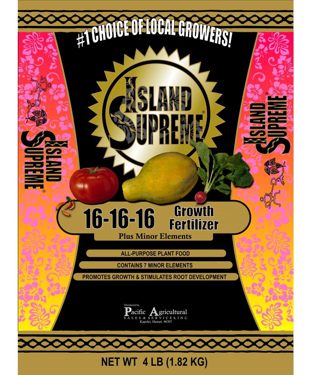 Island Supreme 4 lb. Growth Fertilizer, 16-16-16