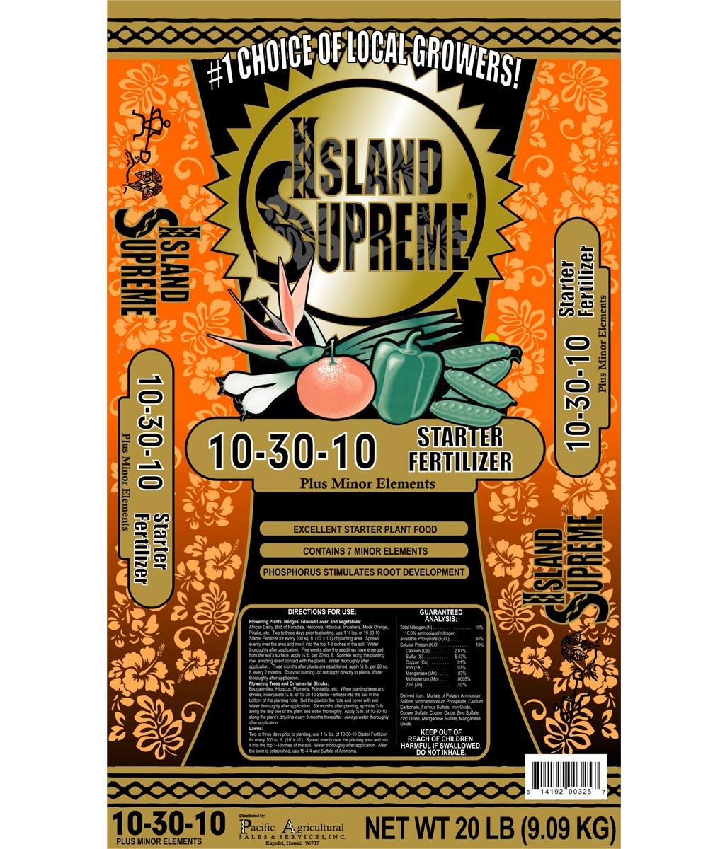 Island Supreme 20 lb. Starter Fertilizer, 10-30-10
