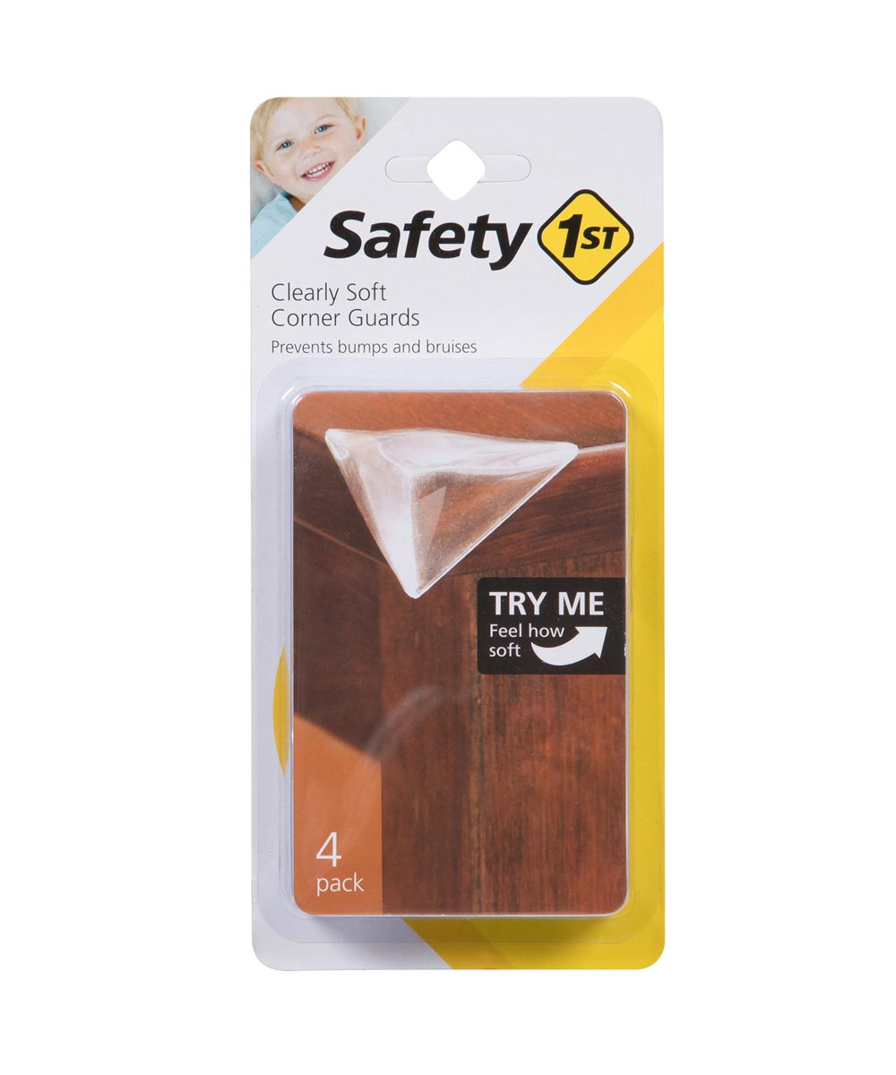 Safety 1st Clear Clearly Soft Corner Guards, 4 Count