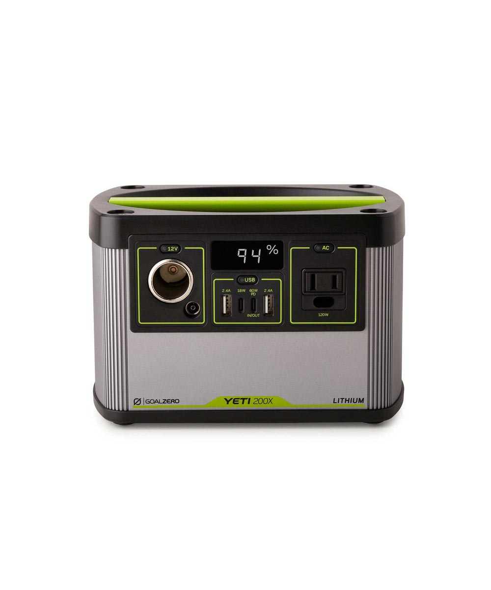 Goal Zero Yeti 200X Lithium Portable Power Station with AC Inverter / USB-A / USB-C / USB PD / 12V / 6mm Ports
