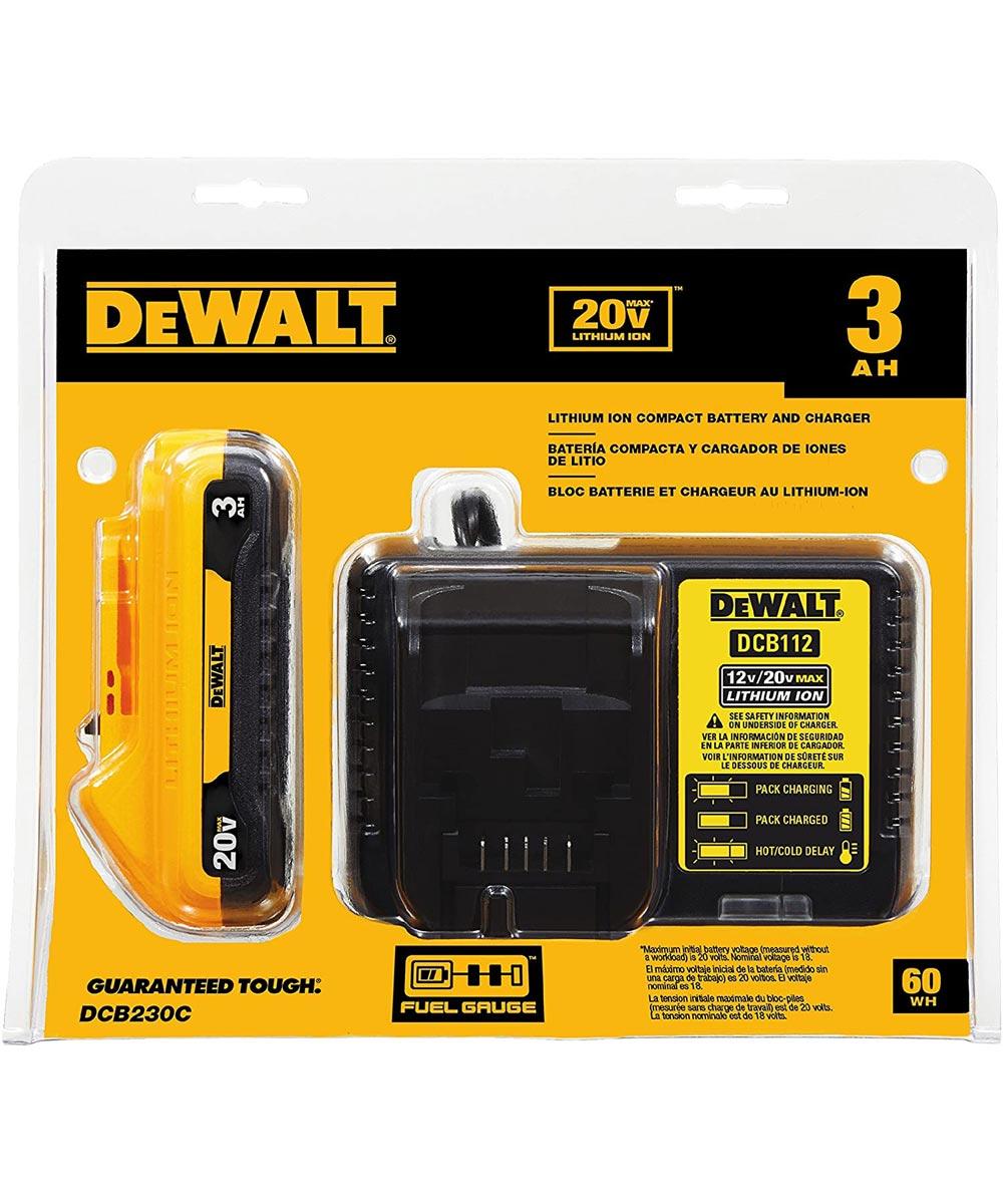 DEWALT 20V MAX* 3.0Ah Battery & Charger Starter Kit