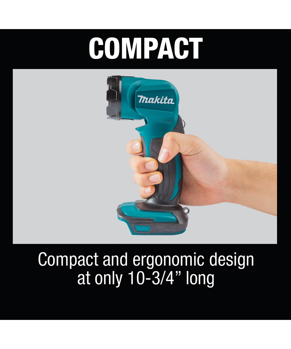 Makita 18V LXT Lithium‑Ion Cordless 160 Lumen LED Flashlight, Blue Body, Tool Only (No Battery or Charger)