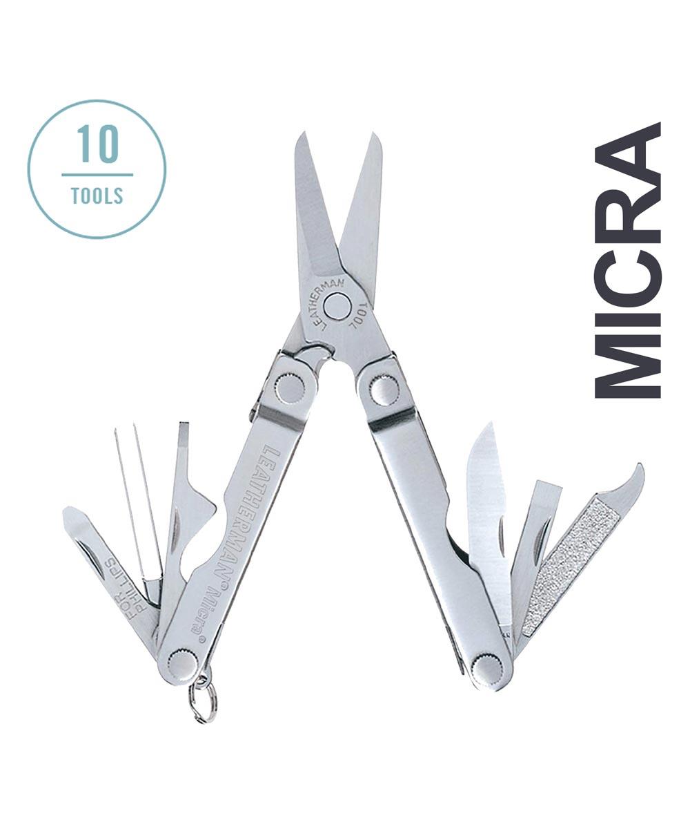 Leatherman Micra Keychain Multi Tool, Silver