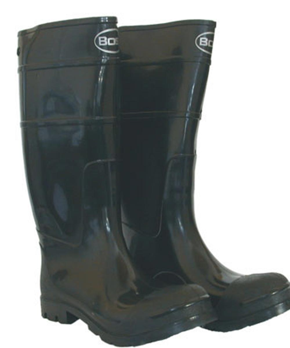 Size 9 Black Men's PVC Knee Boot