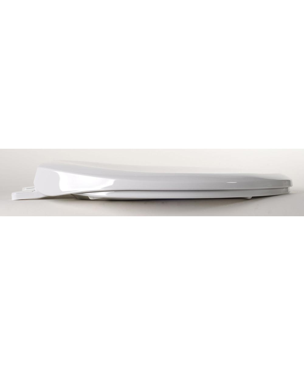 Jones Stephens Premium Elongated Plastic Toilet Seat with Adjustable QuicKlean Hinge, White