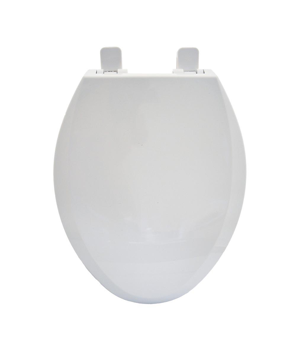 Jones Stephens Slow Close Elongated Plastic Family Toilet Seat / Potty Training Seat, White