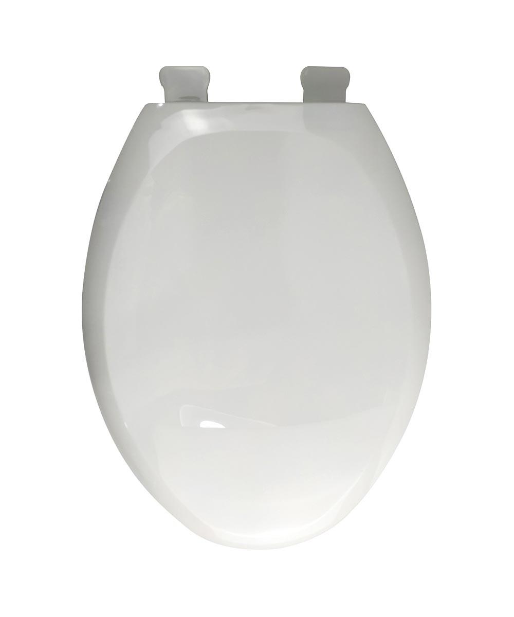 Jones Stephens Premium Slow Close Elongated Plastic Toilet Seat with Adjustable QuicKlean Hinge, White