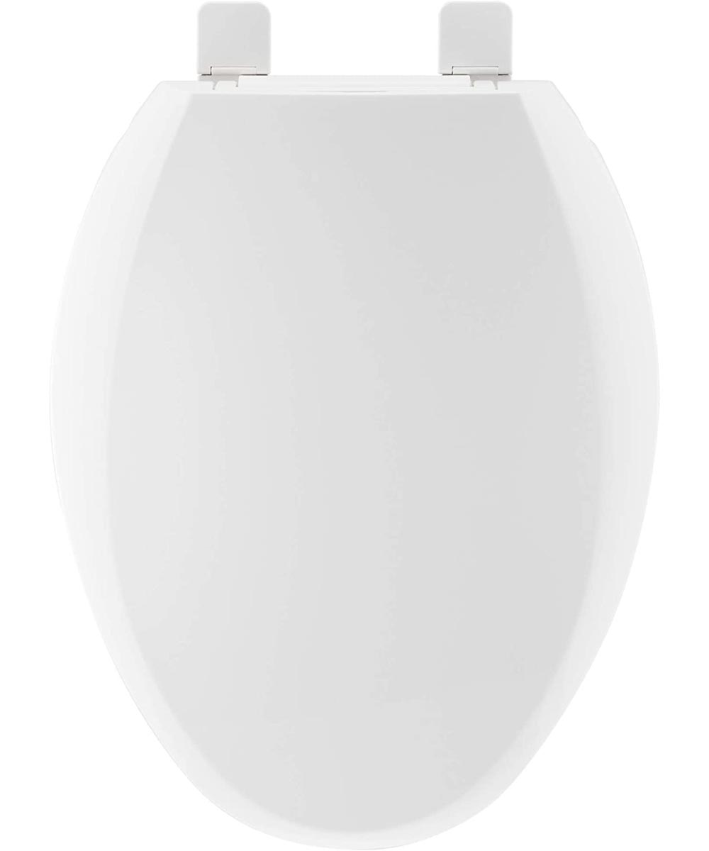 ProFlo Crisson Slow Close Elongated Plastic Toilet Seat with Easy Clean Hinge, White
