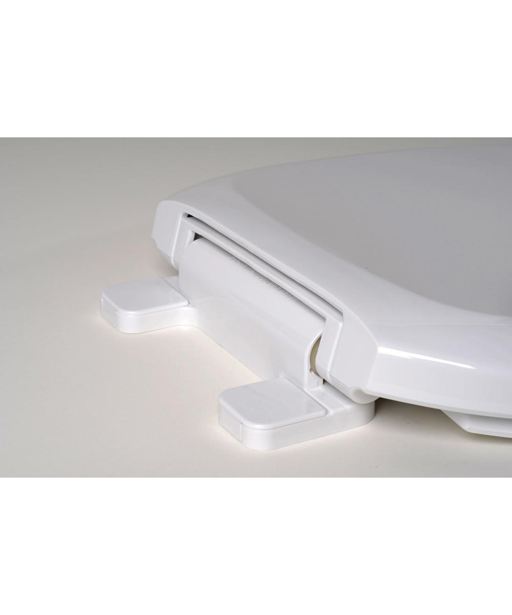 Jones Stephens Premium Round Plastic Toilet Seat, White