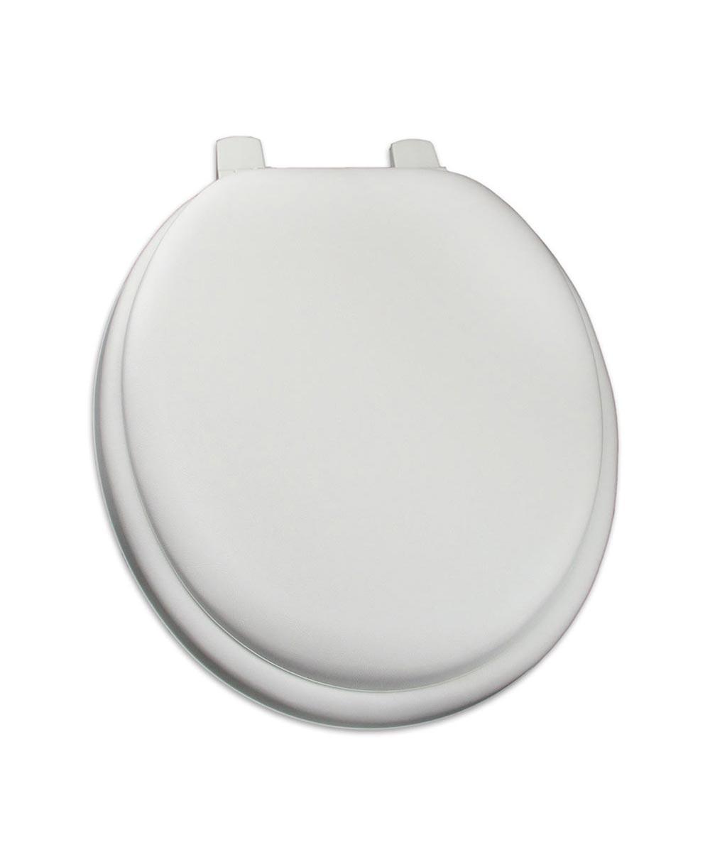 Jones Stephens Deluxe Soft Round Plastic Toilet Seat with Adjustable QuicKlean Hinge, White