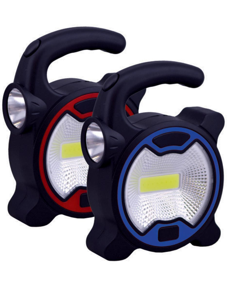 COB LED Grip Handle Worklight, Assorted Colors
