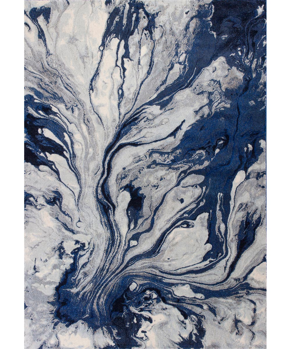 KAS 4 ft. 5 in. x 6 ft. 5 in. Illusions Watercolors Blue Area Rug