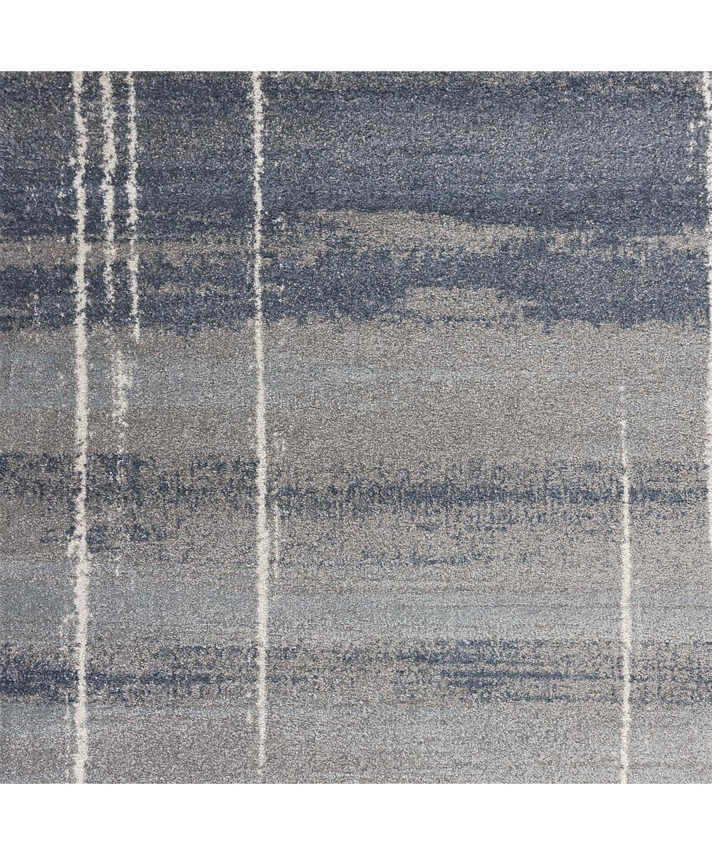 KAS 4 ft. 5 in. x 6 ft. 5 in. Landscapes Ivory/Blue Ombre Area Rug