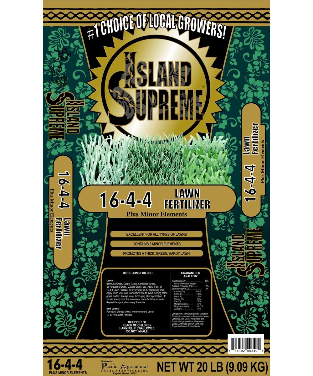 Island Supreme 20 lb. Lawn Fertilizer, 16-4-4