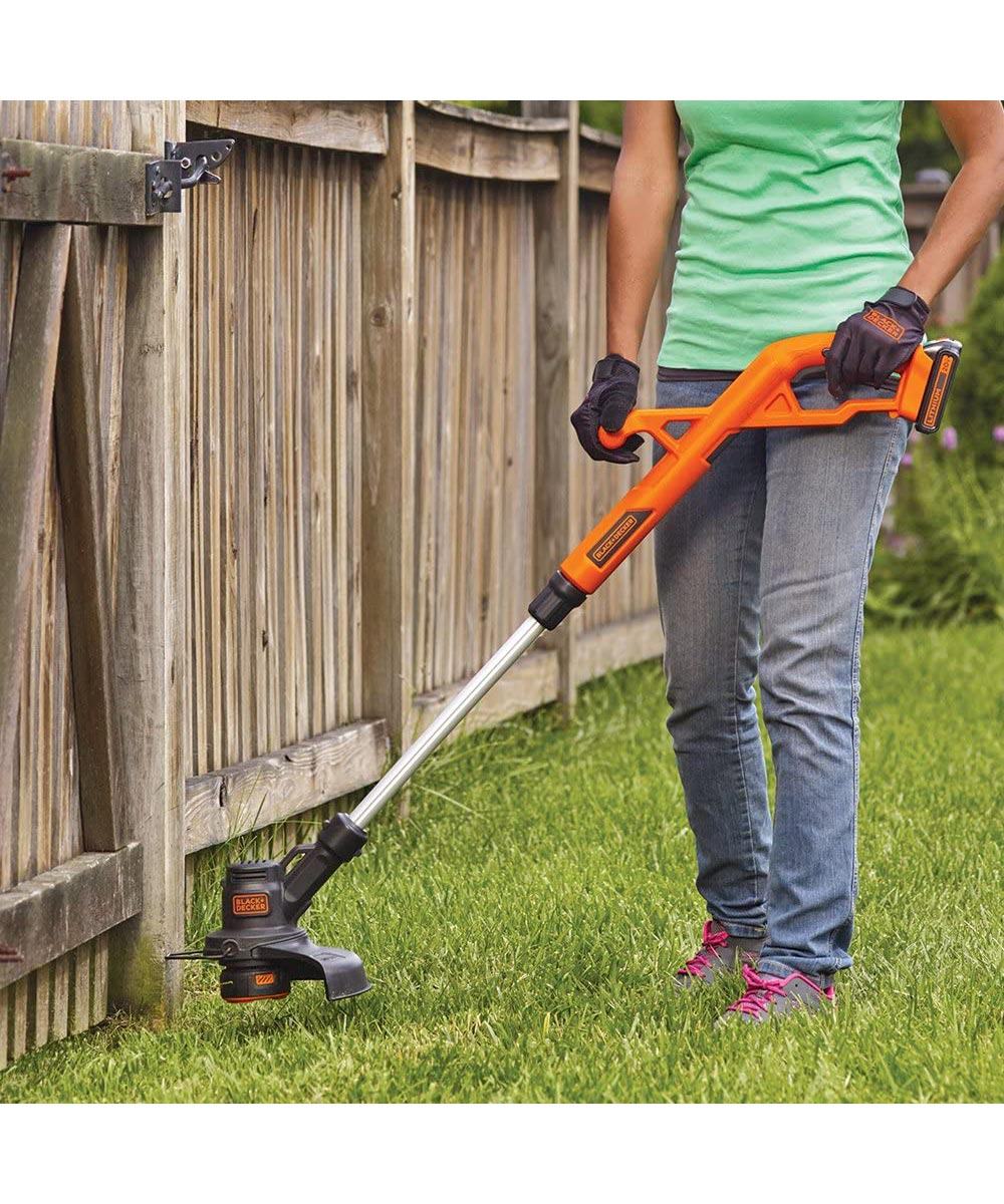Black & Decker 20V MAX* Lithium 10 in. String Trimmer / Edger & Blower / Sweeper Combo Kit with Battery & Charger