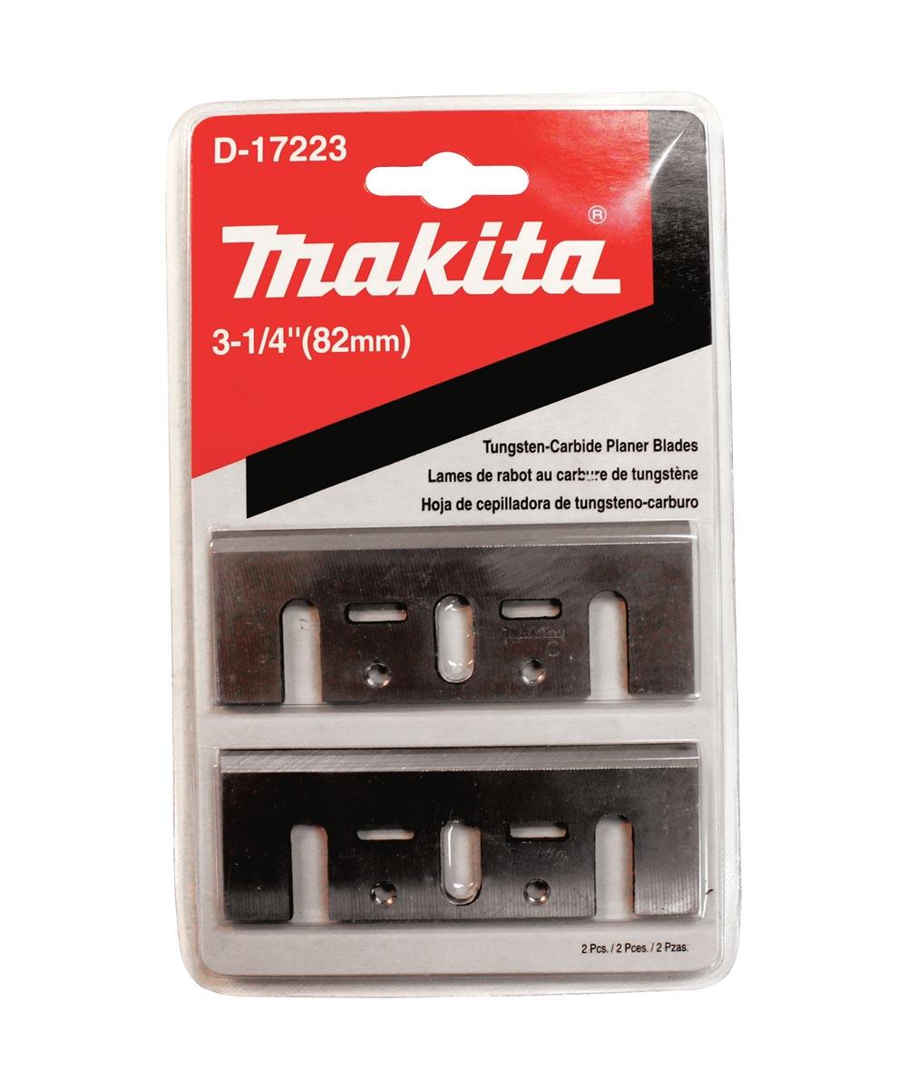 Makita 3‑1/4 in. Planer Blade, Tungsten‑Carbide, 2 Pack