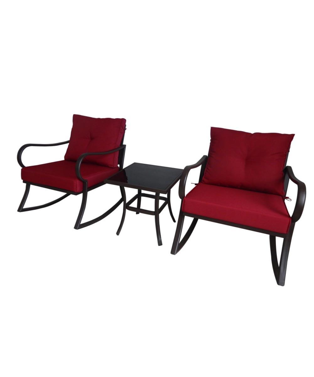 Seasonal Trends 3-Piece Steel Rocker Patio Furniture Set