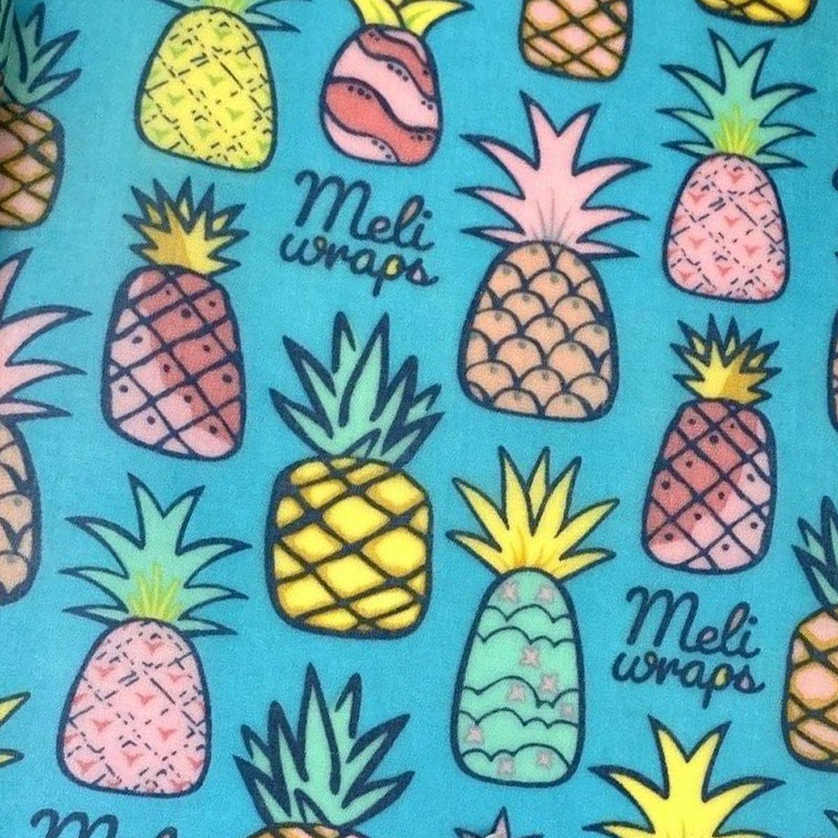 Meli Wraps Bulk Roll (42 in. x 13.5 in.) Reusable Beeswax Food Wrap, Pineapple Print