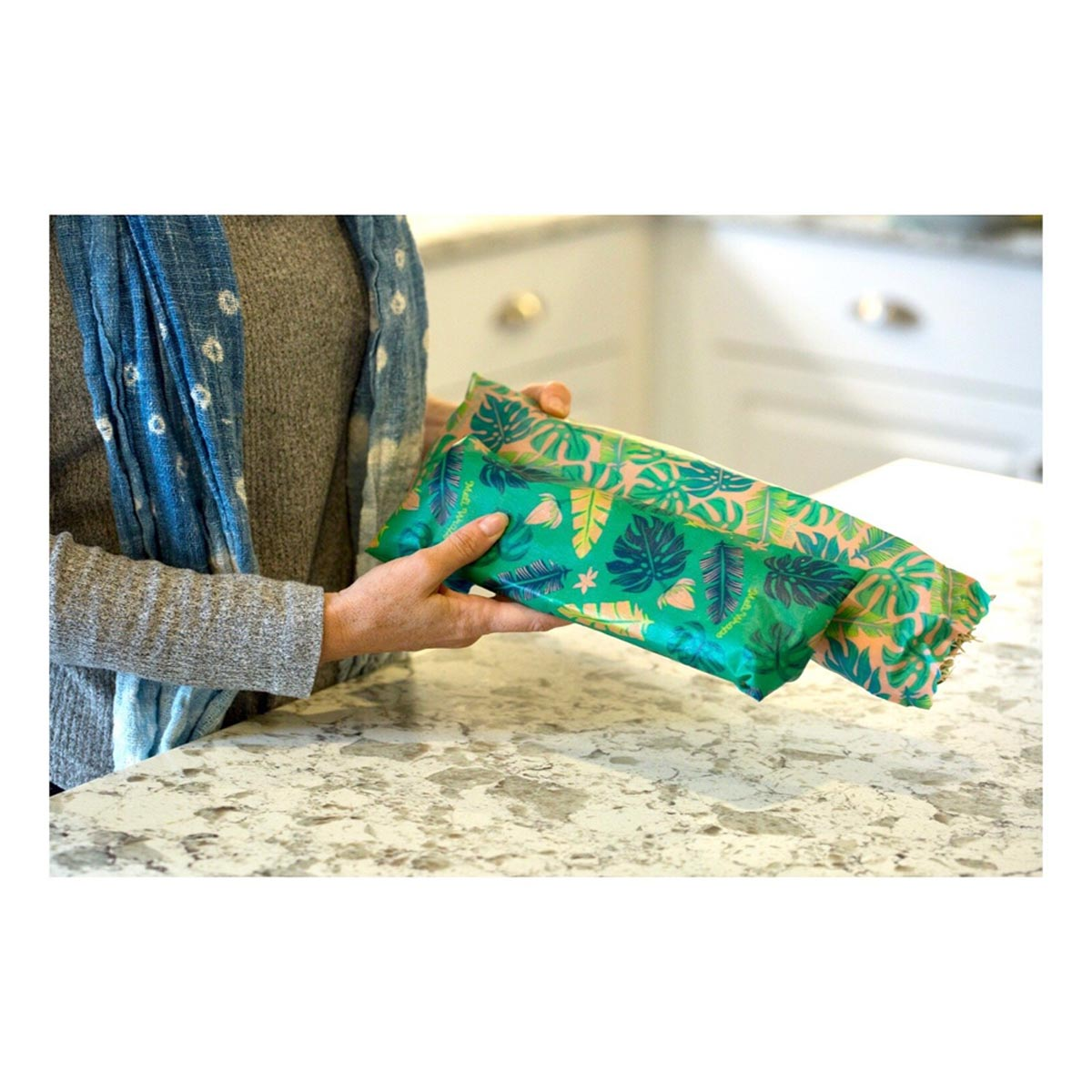 Meli Wraps 3-Pack (Sm/Med/Lrg) Reusable Beeswax Food Wrap, Assorted Prints