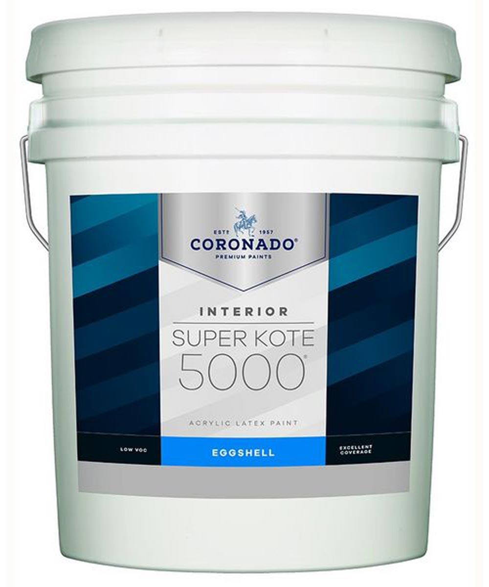 5 Gallon Super Kote 5000 Interior Eggshell White Paint