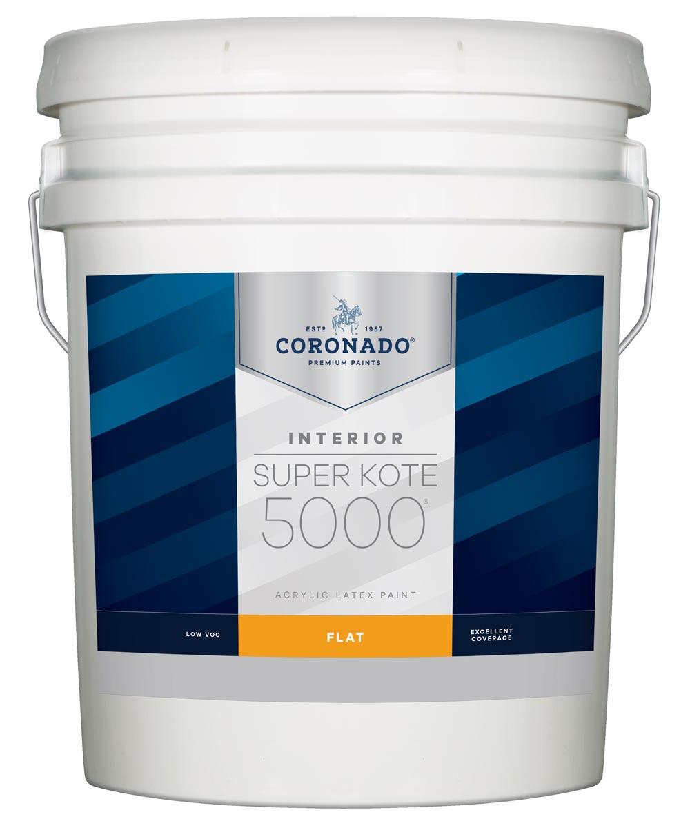 5 Gallon Super Kote 5000 Interior Flat White Paint