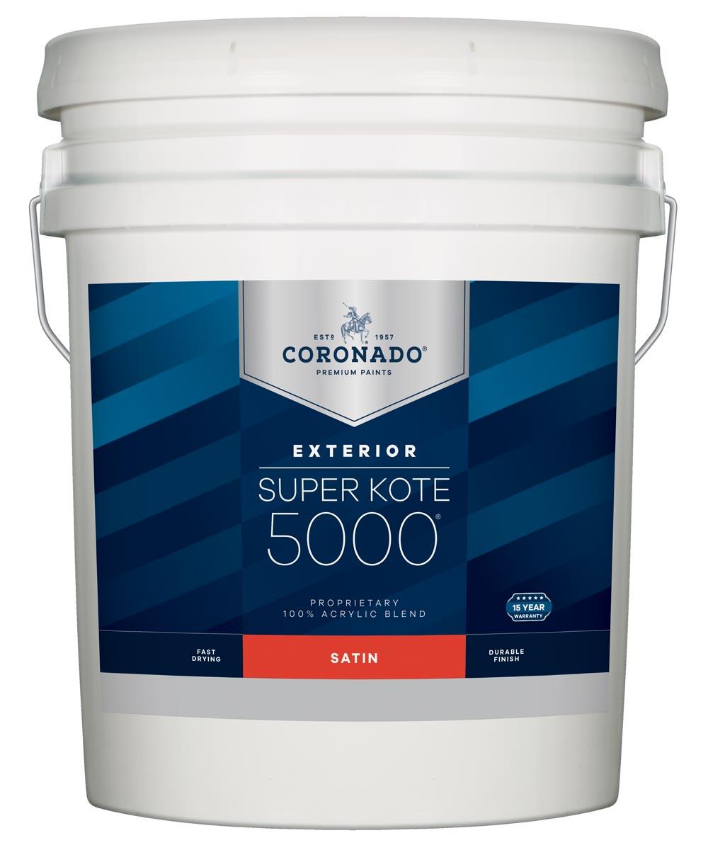 5 Gallon Super Kote 5000 Exterior Satin White Paint