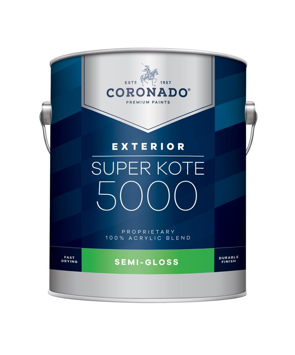 1 Gallon Super Kote 5000 Exterior Semi-Gloss White Paint