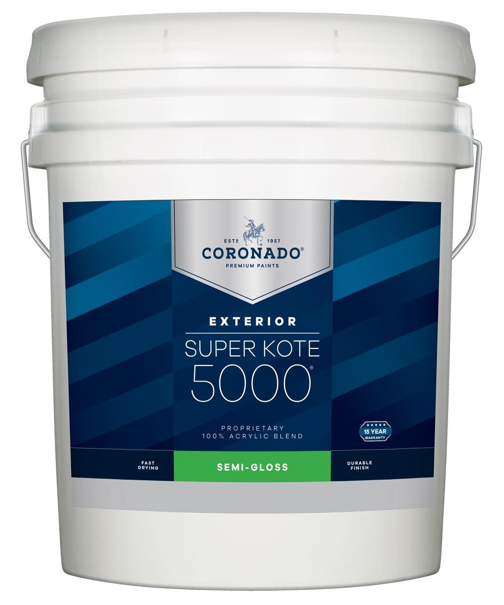 5 Gallon Super Kote 5000 Exterior Semi-Gloss White Paint