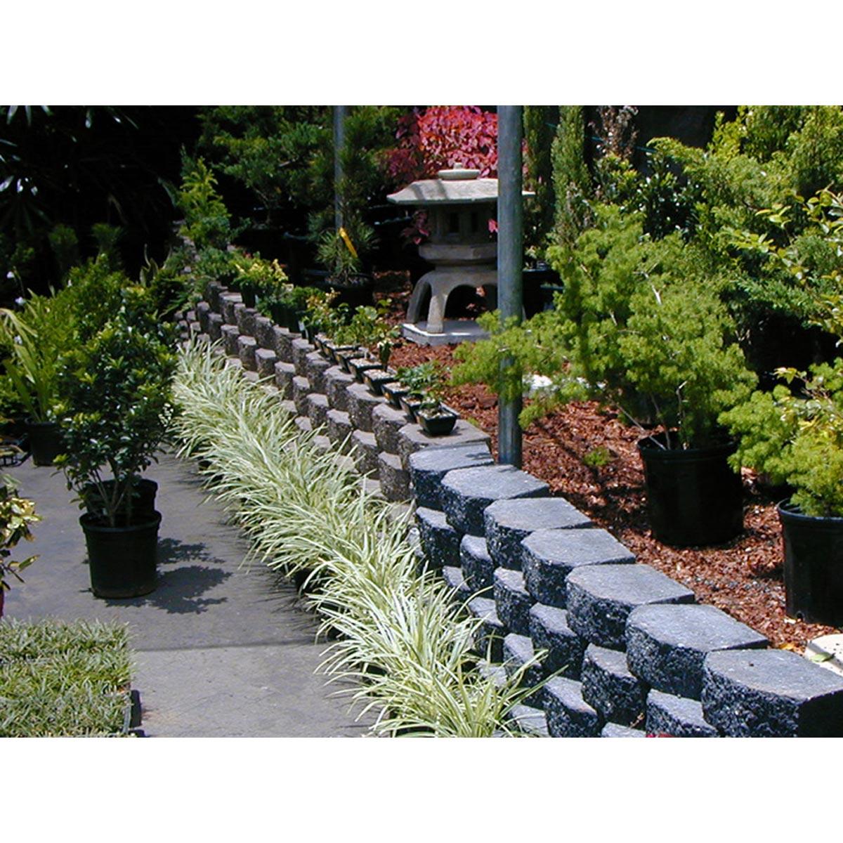 Arborstone Concrete Wall Block, Dark Gray