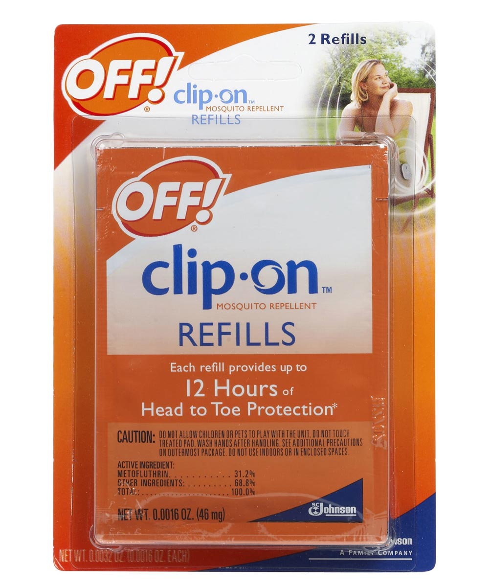 Clip On Mosquito Repellent Refill 2 Count