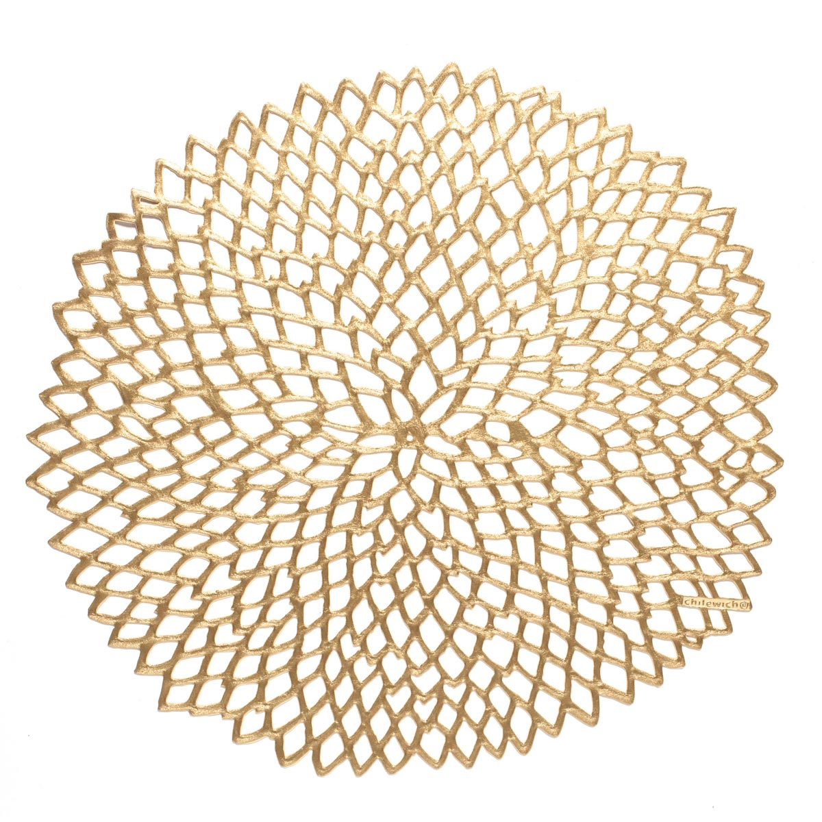 Chilewich Dahlia Table Mat, Brass Color