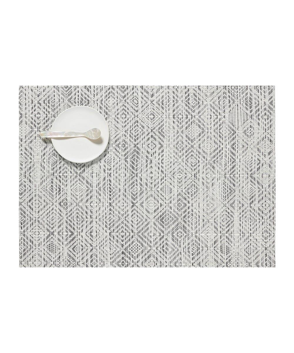 Chilewich Mosaic Table Mat, White/Black