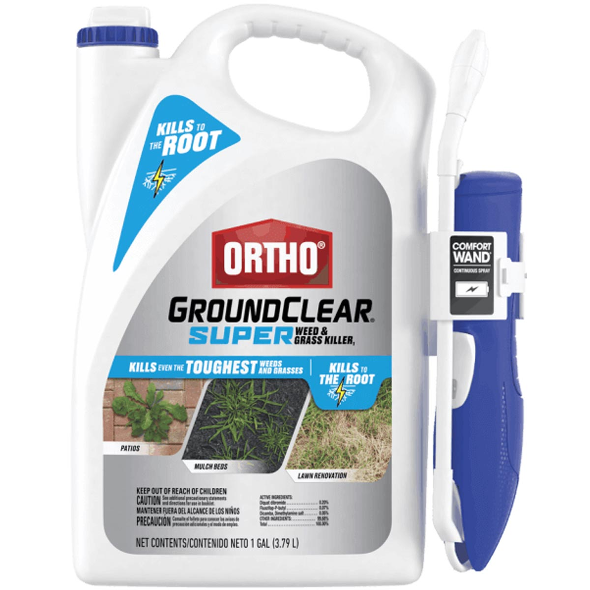 Ortho GroundClear Super Weed & Grass Killer1, 1 Gallon Ready-to-Use with Spray Wand