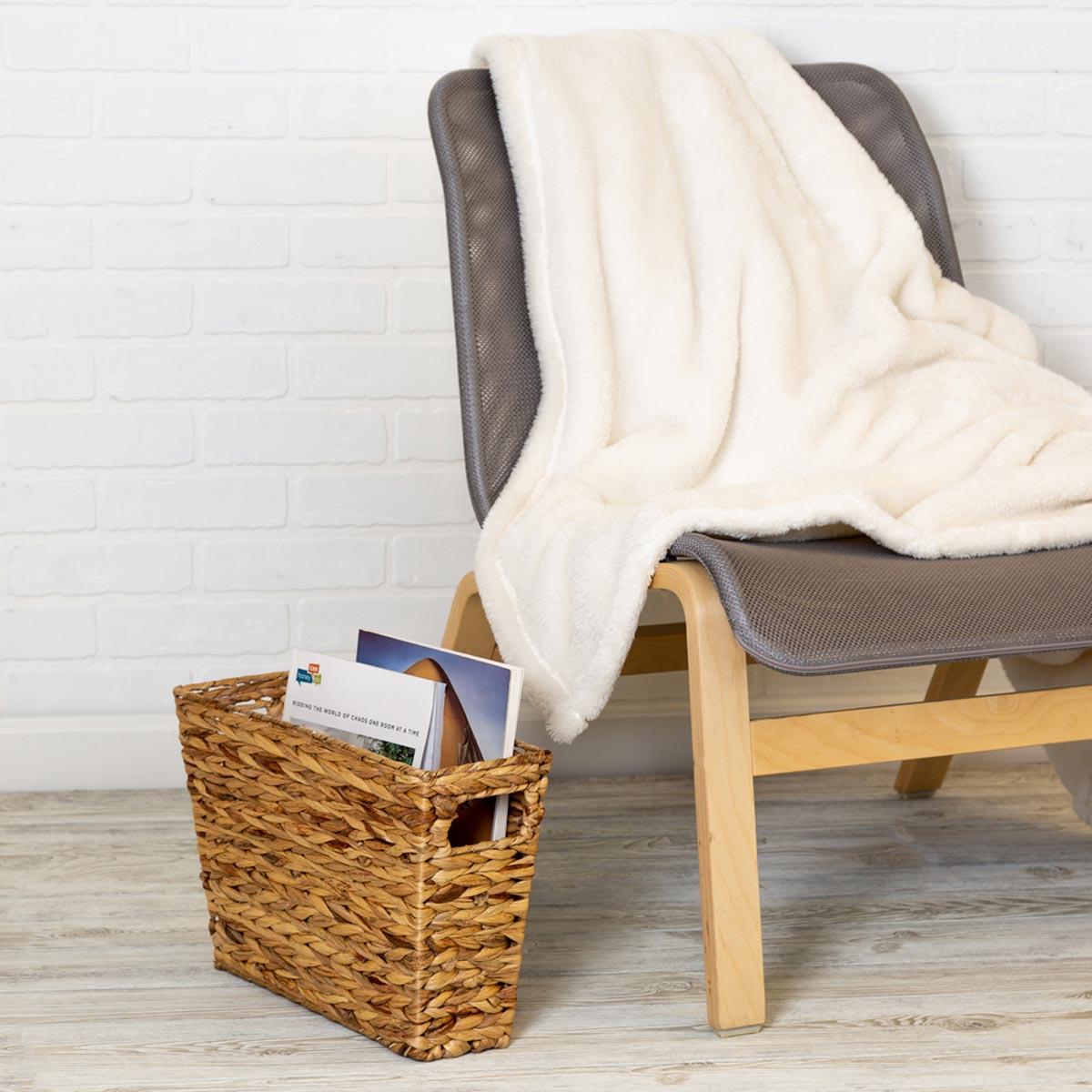 Hyacinth Magazine Storage Basket