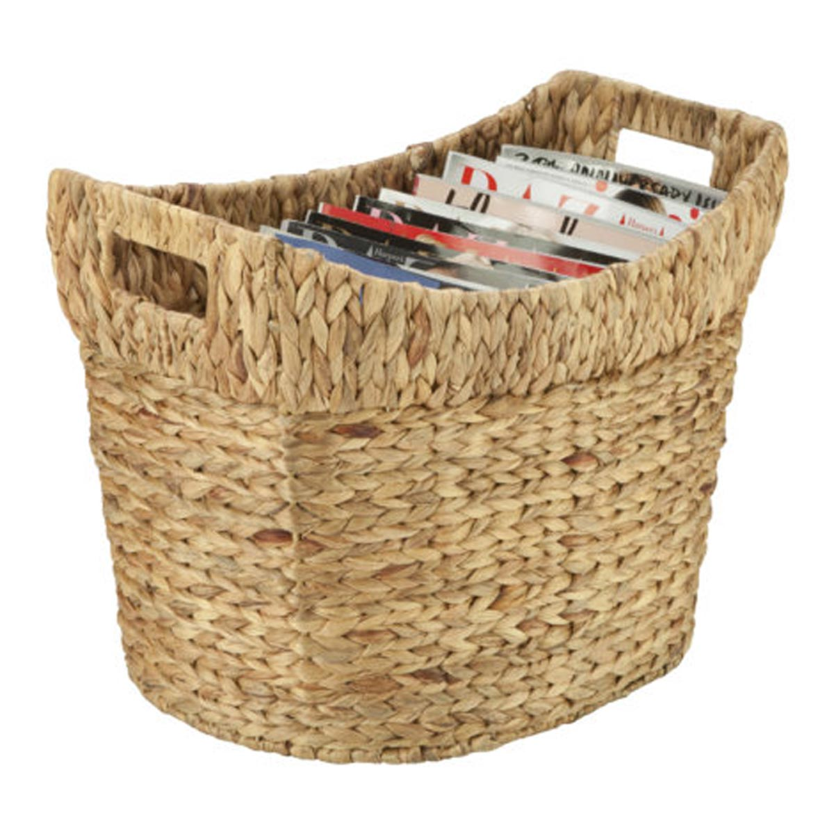 17.75 in. x 12 in. x 13.75 in. Tall Natural Hyacinth Storage Basket, Small