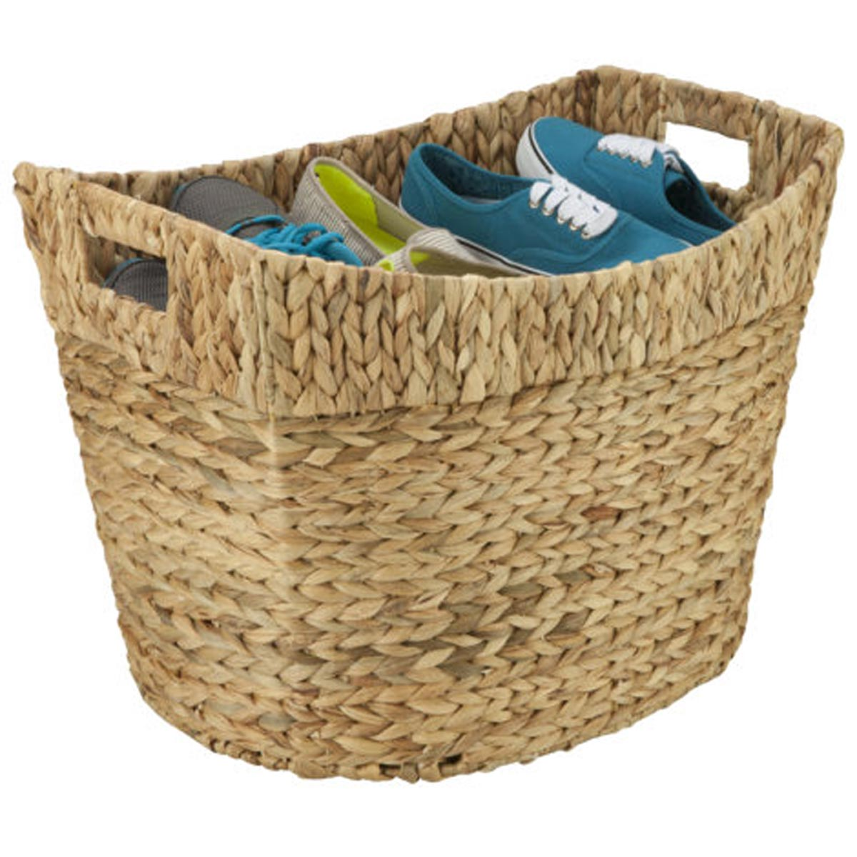 22.25 in. x 15.5 in. x 16.25 in. Tall Natural Hyacinth Storage Basket, Large