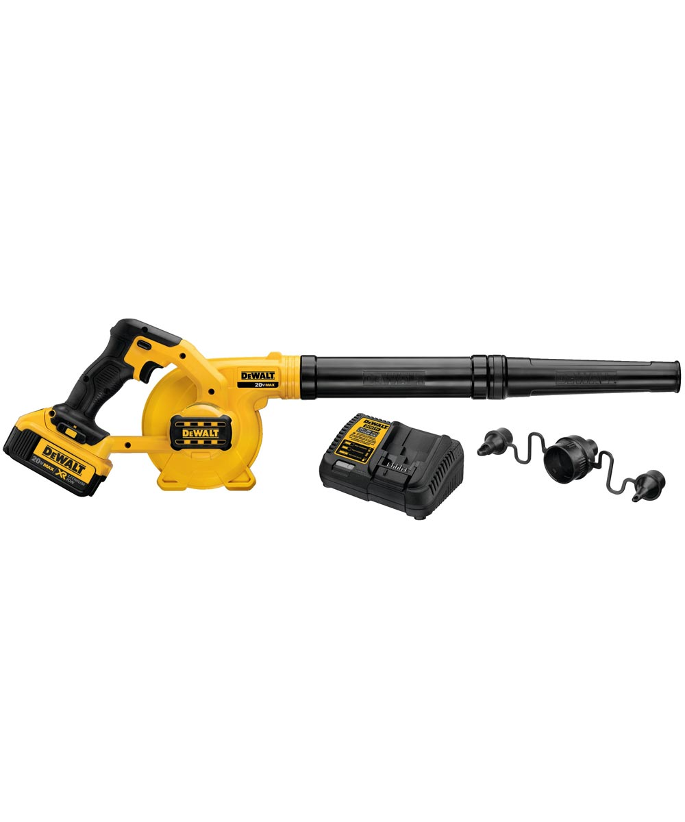 DEWALT 20V MAX* Cordless Compact Jobsite Blower Kit with 4.0Ah Battery & Charger