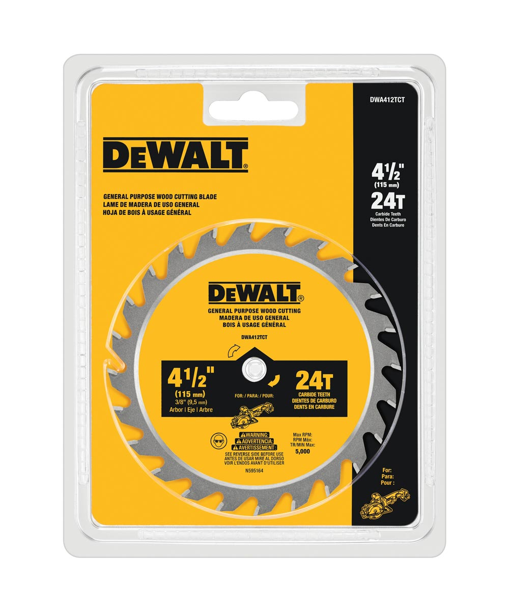 DEWALT 4-1/2 in. 24T Circular Saw Blade