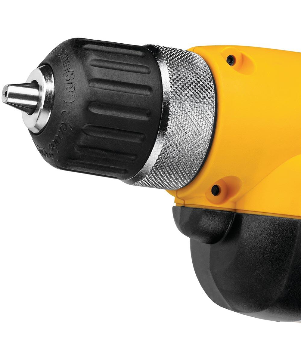 DEWALT 3/8 in. Corded VSR Pistol Grip Drill Kit with Keyless Chuck