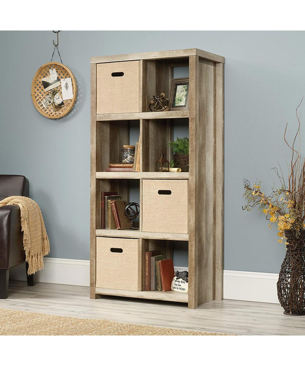 HomePlus 8-Cube Bookcase, Lintell Oak