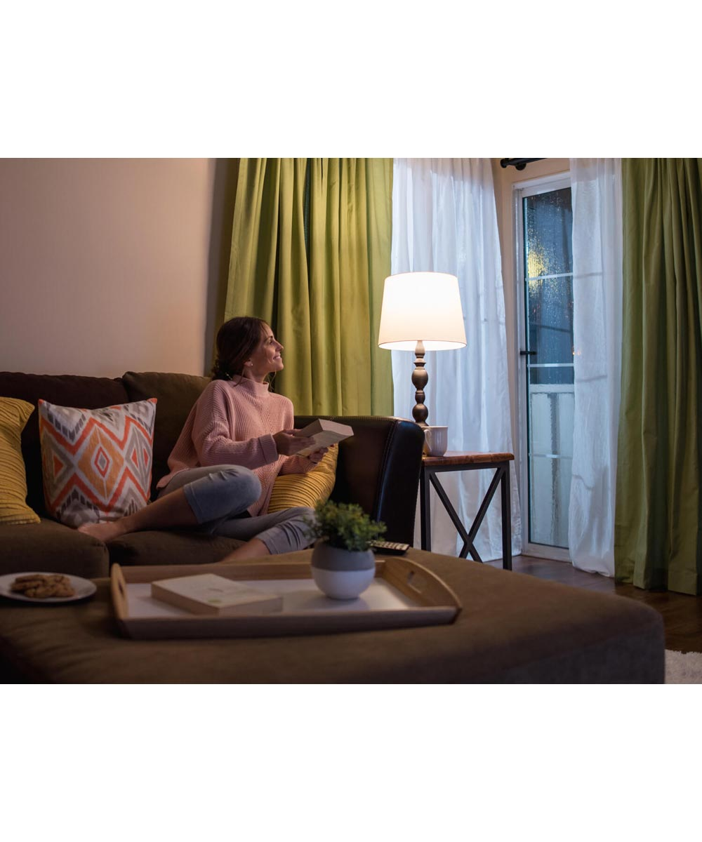 Feit Electric 8.8 Watt E26 A21 Frosted Soft White LED Non-Dimmable Light Intellibulb with Battery Backup