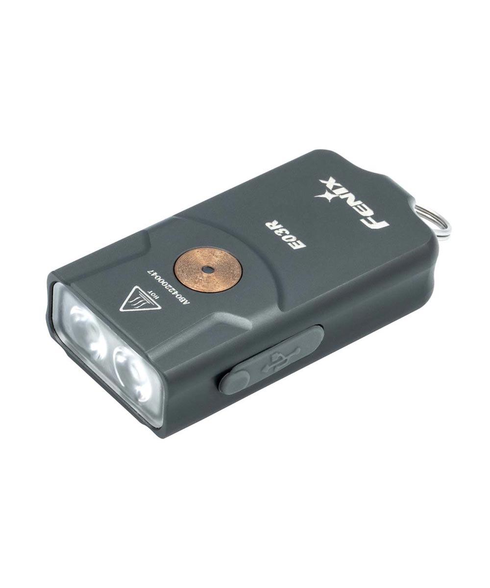 Fenix E03R 260 Lumen LED Keychain Flashlight with USB Rechargeable Battery