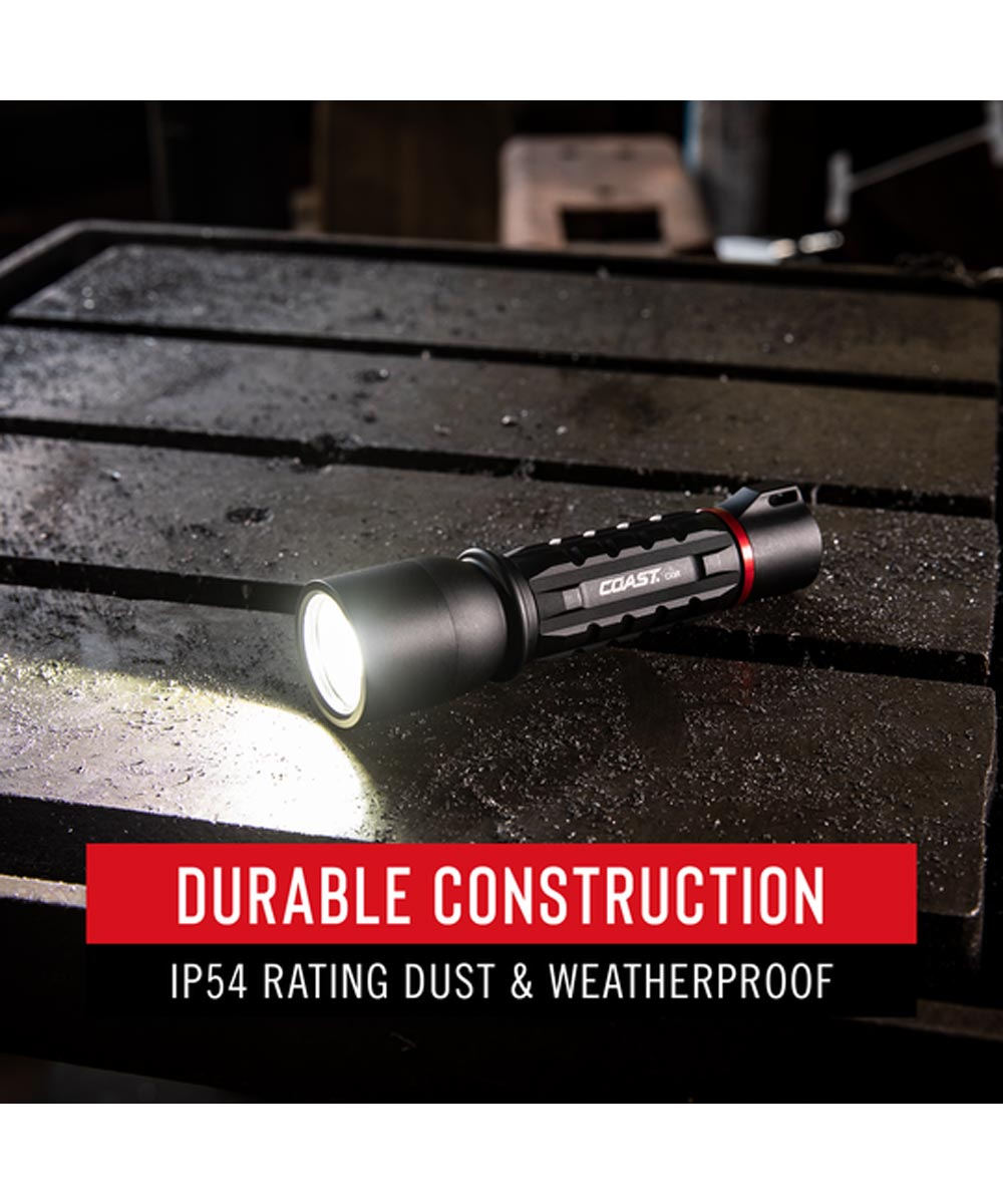 COAST XP9R 1000 Lumen Dual Power LED Flashlight with USB Rechargeable Battery
