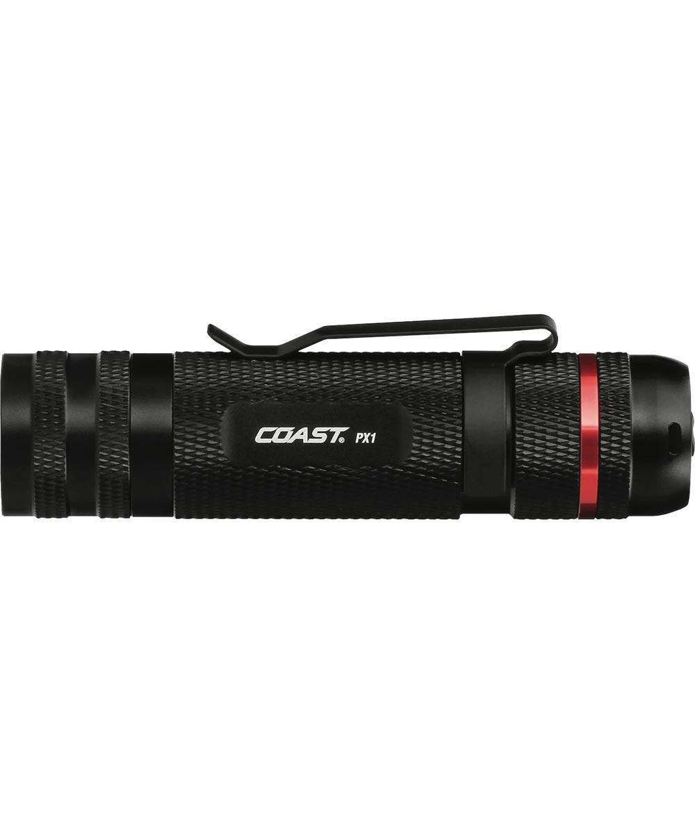 COAST PX1 480 Lumen Pure Beam Focusing LED Flashlight, 3AAA